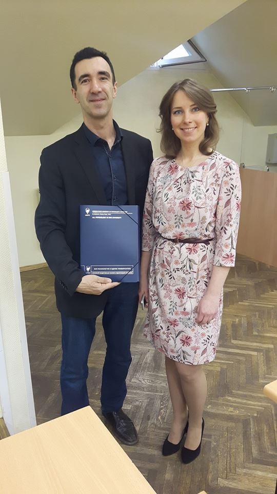 Conferenza di Fabio Boero all'Università statale di Mosca MPPGU